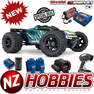 Traxxas 86086-4 E-REVO 2.0 VXL GREEN RTR 4WD Monster Truck w/Two 3s Lipo & Charger