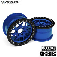 """Vanquish Products VPS08035 KMC 2.2 XD127 BULLY (1.2"""" WIDE) BLUE/BLACK ANODIZED"""