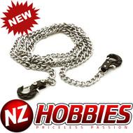 Integy INTC26493BLK Realistic 1/10 Metal Drag Chain w/ Tow Hooks