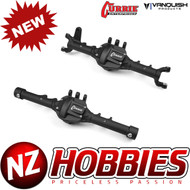 VANQUISH AXIAL CURRIE ROCKJOCK ASCENDER FRONT & REAR AXLE BLACK ANODIZED