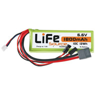 Hobbico 6427 LiFeSource LiFe 6.6V 1800mAh 10C Receiver U