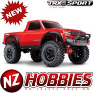 Traxxas TRX-4 SPORT 4X4 Trail Crawler Truck 1/10 Red RTR w/ TQ Radio 82024-4