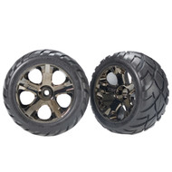 Traxxas 3776A All-Star Wheels w/Anaconda Tires Nitro Rustler Stampede VXL