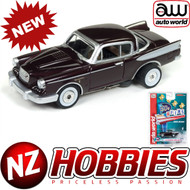 AUTO WORLD THUNDERJET ULTRA G R22 1957 STUDEBAKER HAWK (CHERRY) HO SCALE SLOT CAR