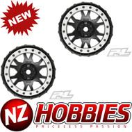 Proline Racing PRO2763-03 Impulse Pro-Loc Black Wheel w/Gray Ring: X-MAXX (2)