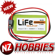 Hobbico LiFeSource HCAM6412 LiFeSource LiFe 6.6V 1300mAh 1C Receiver U
