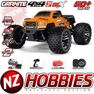 ARRMA 1/10 Granite 4x4 3S BLX Monster RTR Orange/Black w/ TTX300 # ARA102666