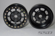 "SSD RC SSD00076 Trail 1.9"" Steel Beadlock Crawler Wheels (BLACK) (2)"