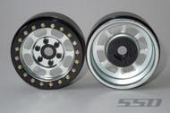"SSD RC SSD00079 Trail 1.9"" Steel Beadlock Crawler Wheels (Silver) (2)"