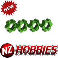 Traxxas 7756G Wheel Hubs, Hex, Aluminum (Green-Anodized) (4)