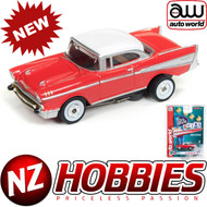 AUTO WORLD THUNDERJET ULTRA G R22 1957 CHEVY BEL AIR (RED) HO SCALE SLOT CAR