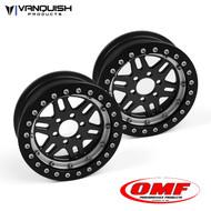 Vanquish Products VPS07648 OMF OMF 2.2 NXG1 WHEEL SET BLACK/CLEAR