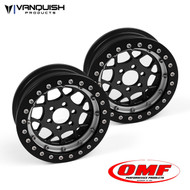 Vanquish Products VPS07650 OMF 2.2 TYPE R WHEEL SET BLACK/CLEAR