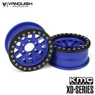 Vanquish Products VPS08043 KMC 2.2 XD229 MACHETE BLUE ANODIZED
