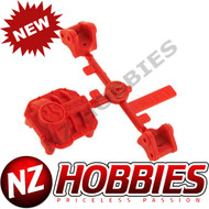 Axial AX31384 AR44 Differential Cover/Link Mounts Red SCX10 II