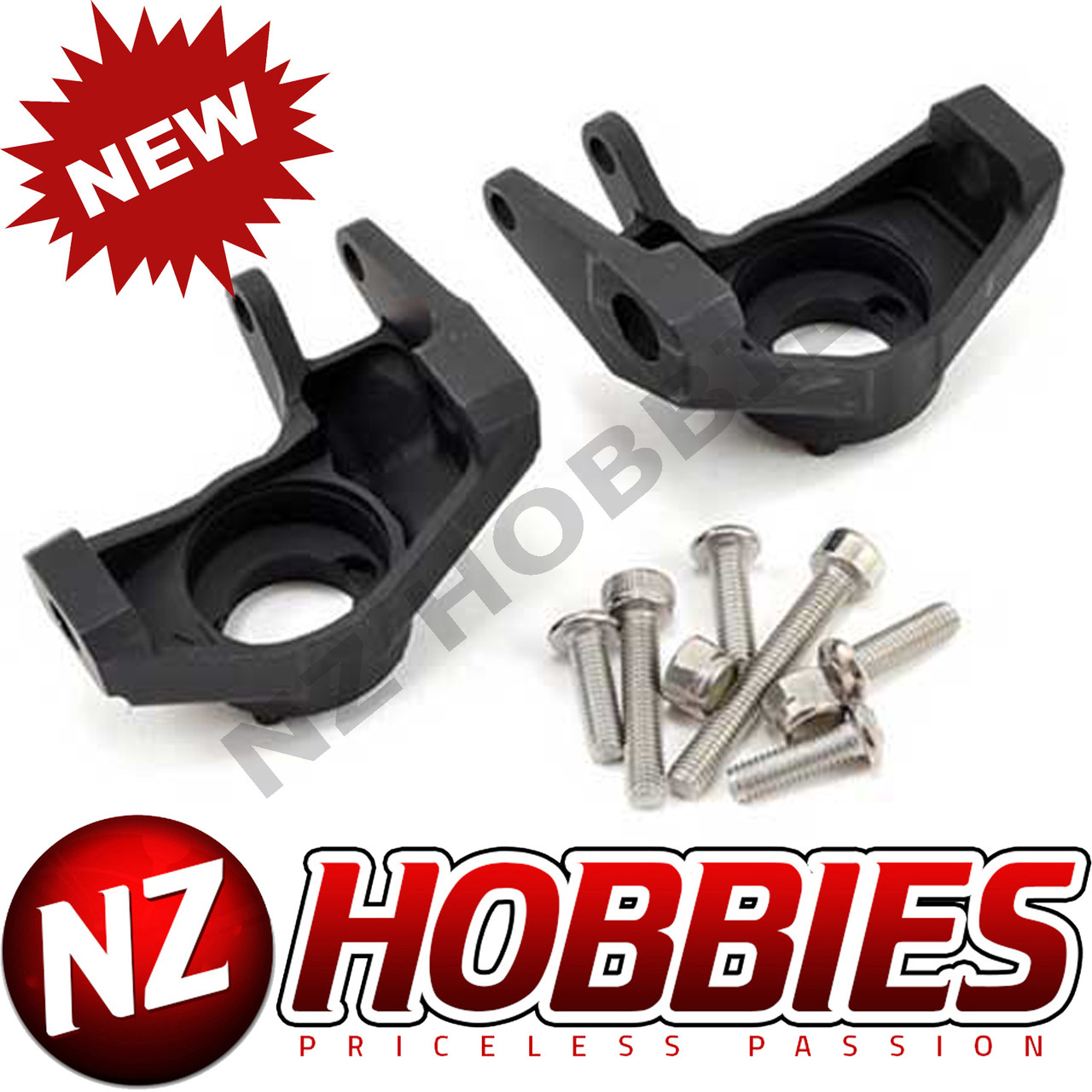 Vanquish Axial Wraith Aluminum Scale Steering Knuckles Black Anodized VPS07003