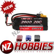 Venom 20C 2S 2000mAh 7.4 LiPo Battery w/ Universal Plug # 15023