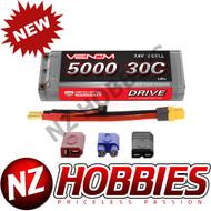 Venom 30C 2S 5000mAh 7.4 Hard Case LiPo Battery ROAR Approved w/ UNI Plug 15080