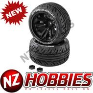 DYNAMITE DTXC2900 SPEEDTREADS Speedhawk 1/10 ST/MT Tires MNTD (2)