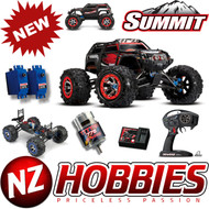 Traxxas 56076-4 1/10 4WD Summit 4WD Monster Truck RED w/ TQi Radio / EVX-2