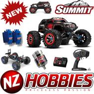 Traxxas 56076-4 1/10 4WD Summit 4WD Monster Truck RED w/ TQi Radio / EVX-2