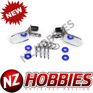 Traxxas TRA8133 - Mirrors, Side, Chrome (left & right)/ O-rings (4)/ Body Clips (4)