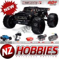 ARRMA 1/8 Notorious 6S 4WD BLX Stunt Truck Black # ARA106044T1