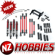 Traxxas 8140R Complete Long Arm Lift Kit RED : TRX-4/Defender/Tactical/Bronco