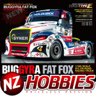 TAMIYA TAM58661 Buggyra Fat Fox On Road Racing Truck Kit, 1/14 SCALE TT-01 Type E Chassis