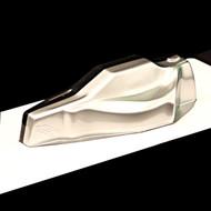 Spaz Stix Silver Metallic Anodized Candy Backer/ Basecoat Lexan Paint # SZX00309