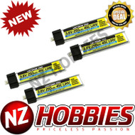 Lectron Pro 3.8V 250mAh 45C LiHV Battery 4-Pack for Blade mCP X