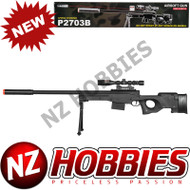 UKARMS Airsoft P2703B SPRING RIFLE w/ SCOPE (BLACK)