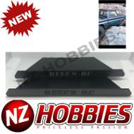 Reef's RC Hardened Steel Laser Cut Sliders for SCX10, SCX10 II, Vaterra