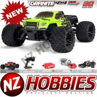 ARRMA ARA102714T1 Granite Mega 4x4 Brushed 4WD 1/10 MT Green/Black w/ Battery & Charger