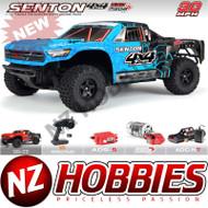 ARRMA ARA102715T2 Senton Mega 4x4 Brushed 4WD SC 1/10 Blue/Black w/ Battery & Charger