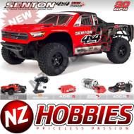 ARRMA ARA102715T1 Senton Mega 4x4 Brushed 4WD SC 1/10 Red/Black w/ Battery & Charger