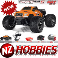 ARRMA 1/10 ARA102720T1 Granite 4X4 3S BLX 4WD RC Truck RTR w/ Radio, Orange/Black