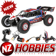 Losi LOS03027T1 Tenacity DB Pro 4WD 1/10 Desert Buggy Brushless RTR w/ Smart, Lucas Oil