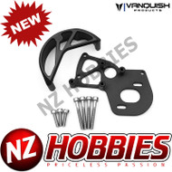 VANQUISH VPS02210 VS4-10 MOTOR MOUNT / GEAR GUARD BLACK ANODIZED