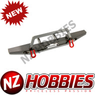 AXIAL SCX10 II ALLOY SCALE FRONT BUMPER, GUN METAL/REPLACES AX31571