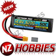 Lectron 14.8V 5200mAh 50C Lipo Battery Soft Pack w/ XT60 + CSRC adapter