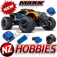 Traxxas 89076-4 X-Maxx 4WD 1/10 SCALE Brushless Electric Monster (ORANGE)