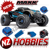 Traxxas 89076-4 Maxx 4WD 1/10 SCALE Brushless Electric Monster (BLUE)