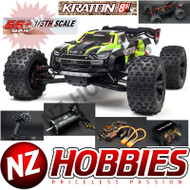 ARRMA RC 1/5 KRATON 4X4 8S BLX Brushless Speed Monster Truck RTR, Green # ARA110002T1