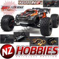 ARRMA RC 1/5 KRATON 4X4 8S BLX Brushless Speed Monster Truck RTR, ORANGE # ARA110002T2