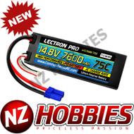 Lectron Pro 14.8V 7600mAh 75C Hard Case Lipo Battery w/ EC5 # 4S7600-755