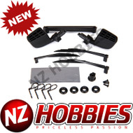 Traxxas TRA8817 Mirrors Side Black (Left & Right)/ O-rings (4)/ Windshield Wipers
