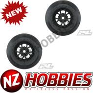 "Proline PRO277603 Pomona Drag Spec 2.2""/3.0"" Black Wheels"
