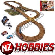 AutoWorld 14' Off Road X-Traction Slot Race Set HO Scale RDZSRS328