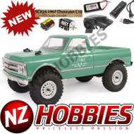 Axial 1/24 SCX24 1967 Chevrolet C10 4WD Truck Brushed RTR, Green # AXI00001T1